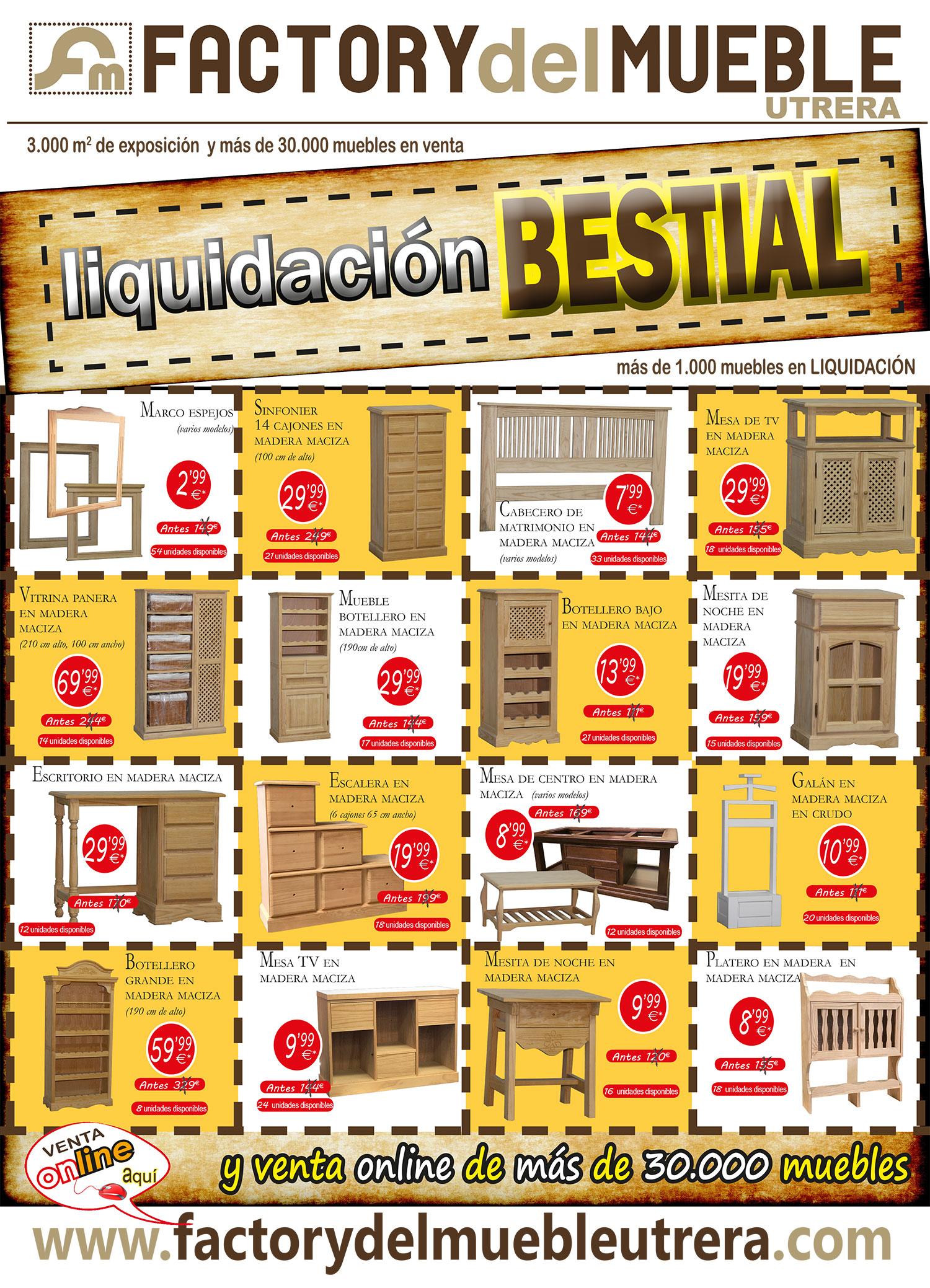 Liquidaci N Bestial Factory Del Mueble Utrera # Muebles Liquidacion