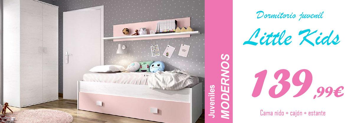 Dormitorio juvenil moderno rosa
