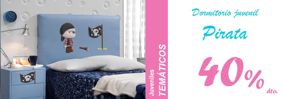 Dormitorio juvenil pirata