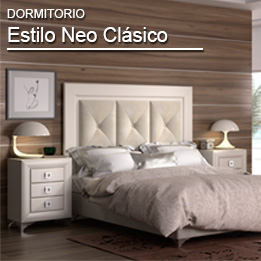 Dormitorio matrimonio madera estilo neo clasico