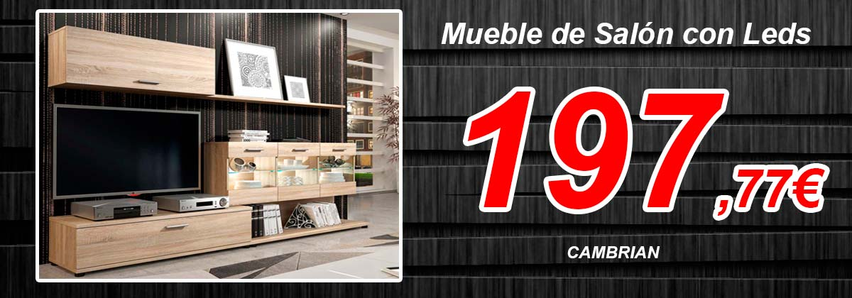 Mueble salon cambrian leds2