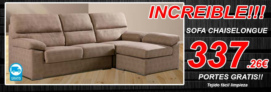 Sofa chaiselongue economico