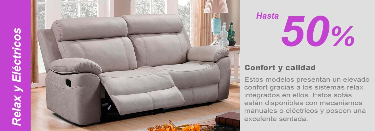 Sofas relax electrico