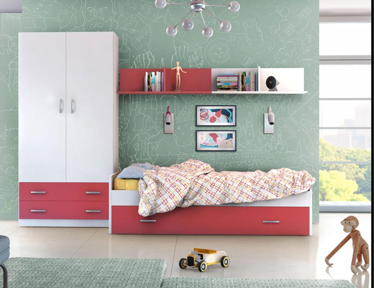 04 dormitorio juvenil cama nido arrastre