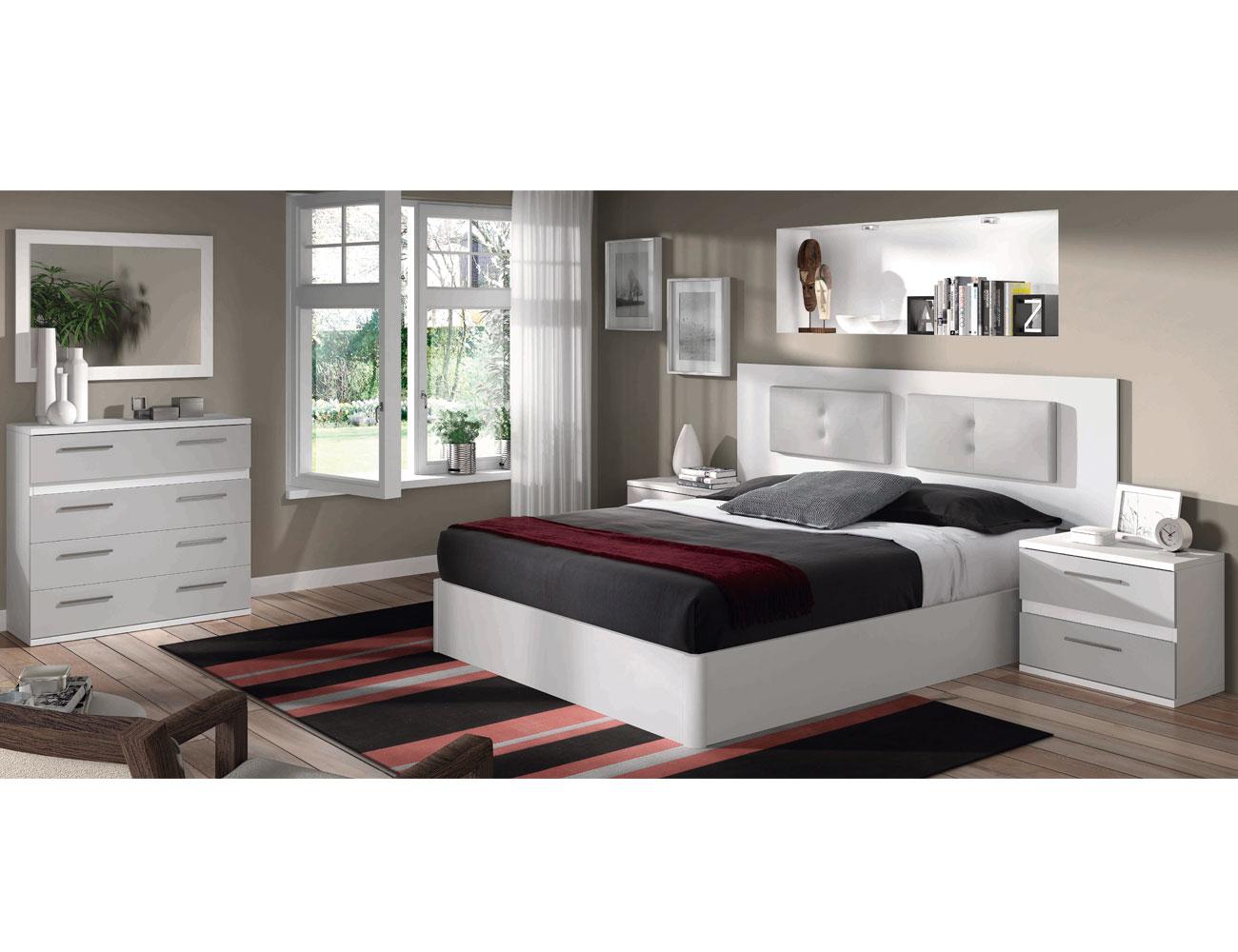 06 dormitorio matrimonio comoda blanco plata