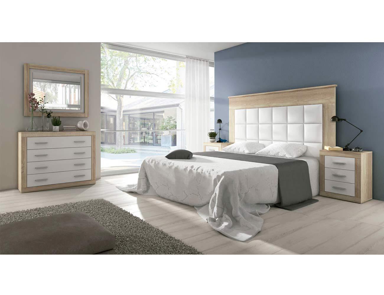 08 dormitorio matrimonio polipiel cambrian blanco