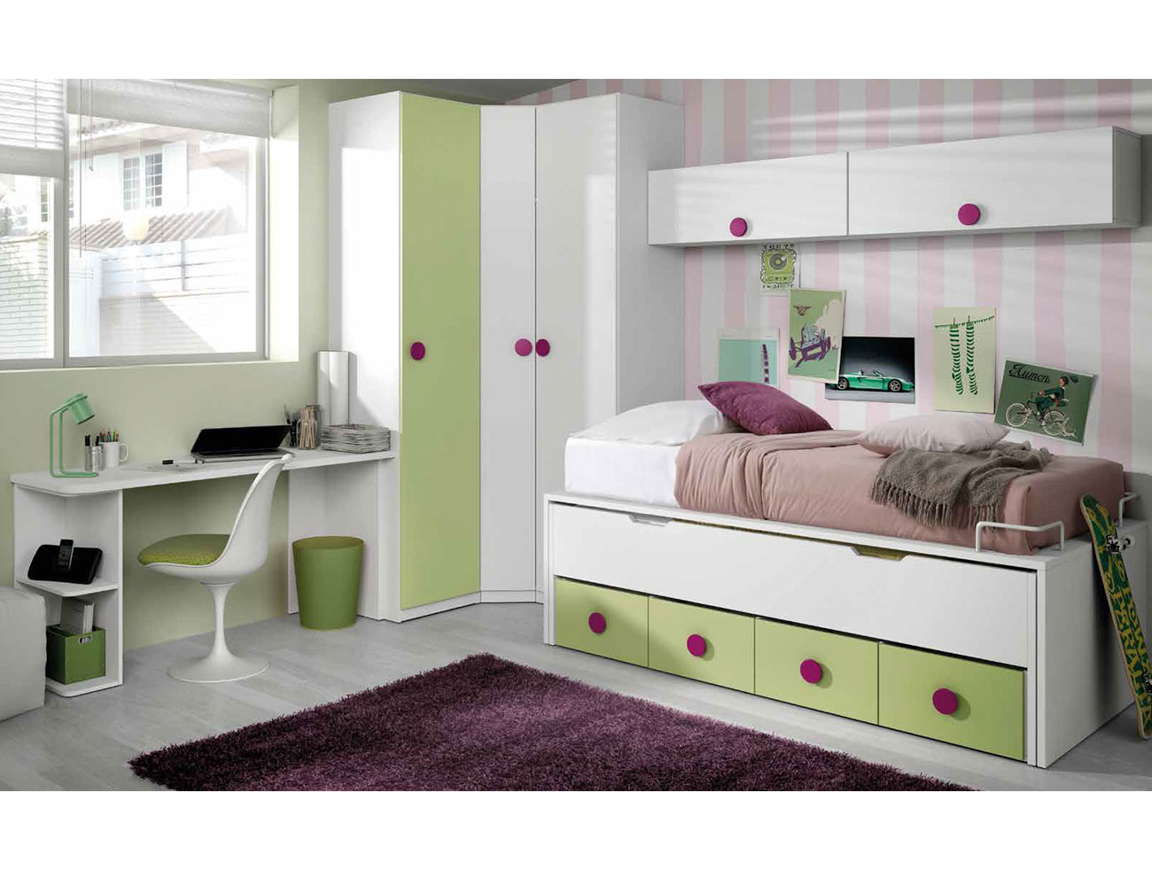 11 dormitorio juvenil cama tatamic 4 cajones