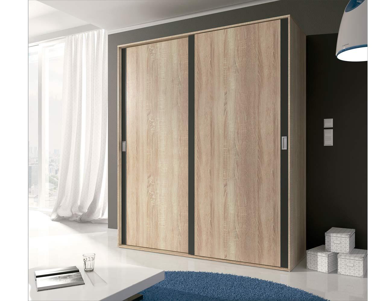 13 armario 2 puertas correderas cambrian grafito