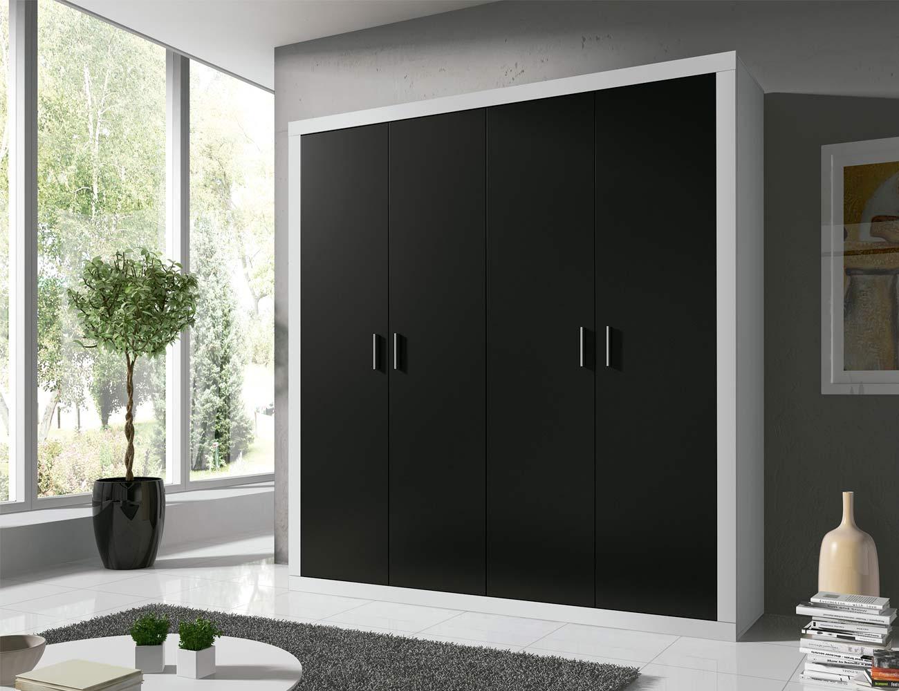 14 armario 2 puertas abatibles blanco grafito1