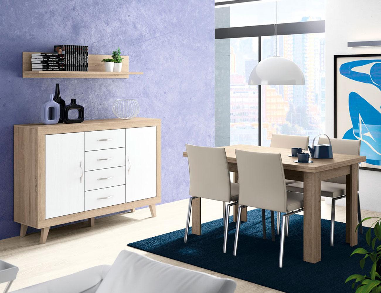 153 aparador mesa estante cambrian blanco