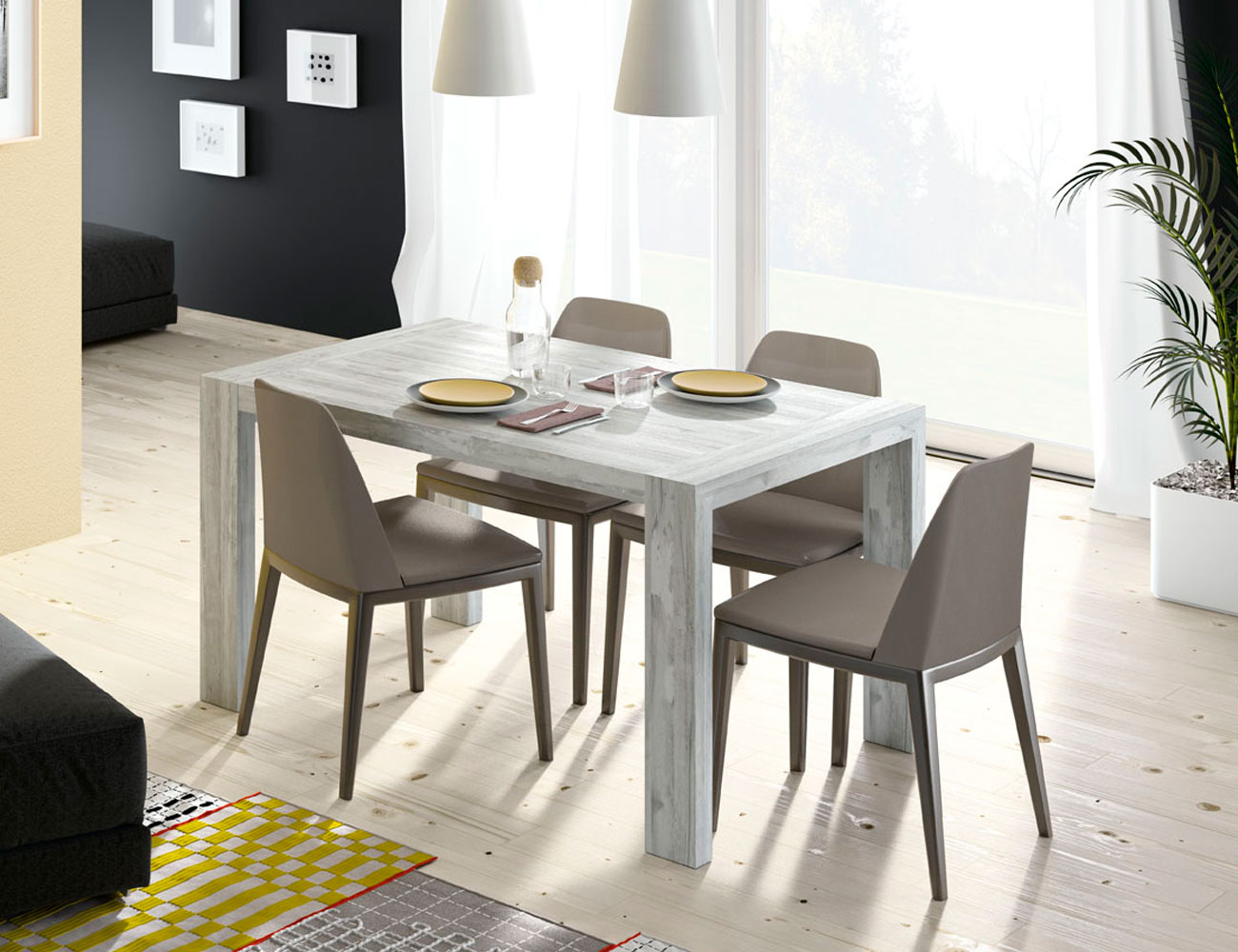 173 mesa rectangular pata deslizante artic1
