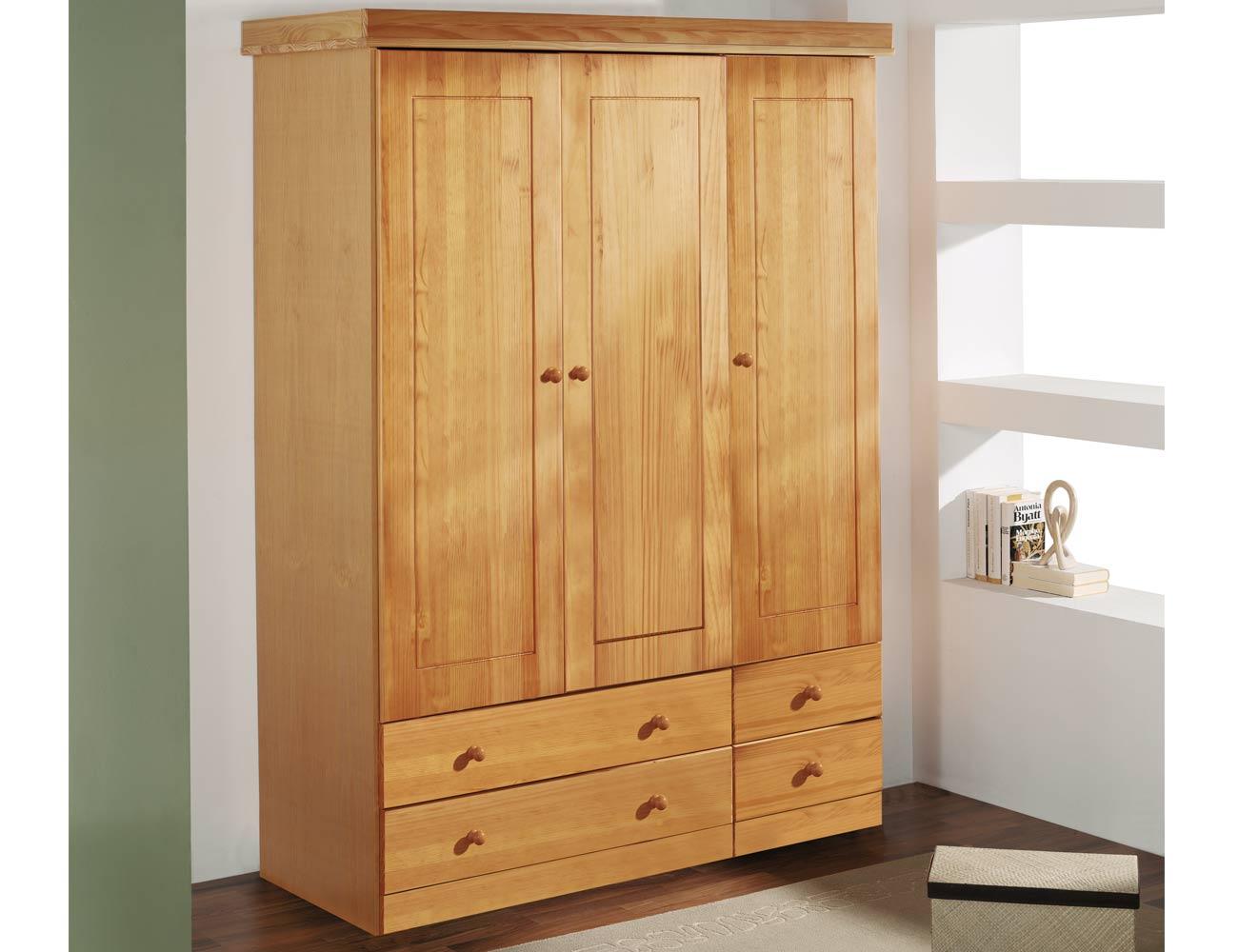 Armario 2 puertas en madera y en color miel 8076 for Puerta 4 del jockey