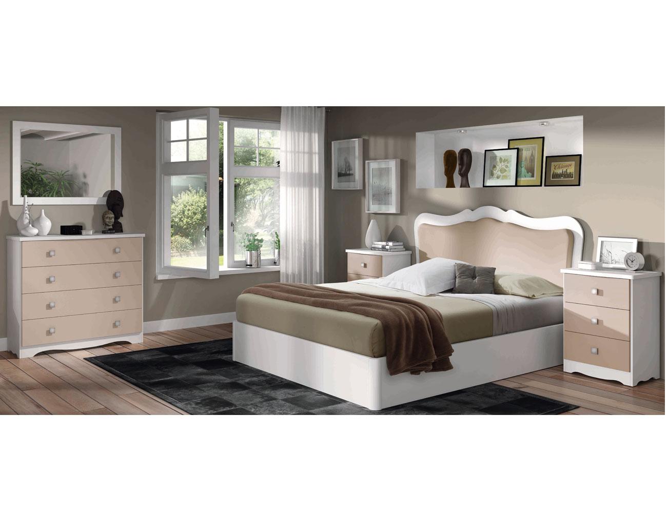 21 dormitorio matrimonio clasico blanco capuchino