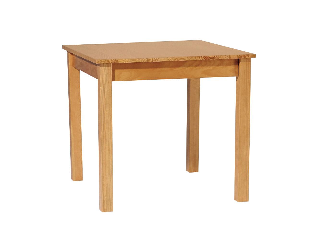 361 mesa cuadrada fija madera pino provenzal