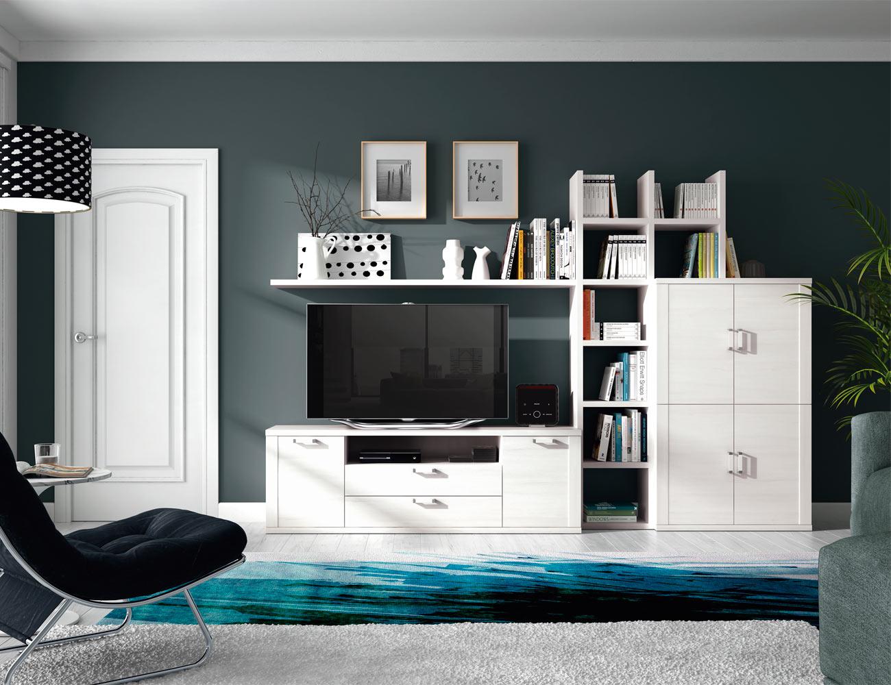 Mesa de centro fija color nogal factory del mueble utrera - Factory del mueble utrera ...