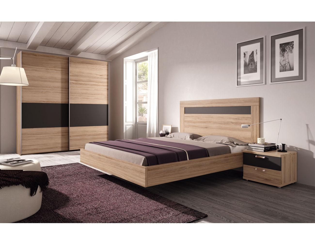 462 dormitorio matrimonio  roble antracita armario1