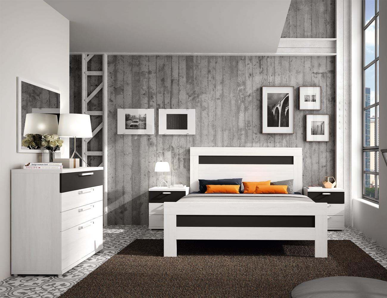 463 dormitorio matrimonio comoda polar antracita