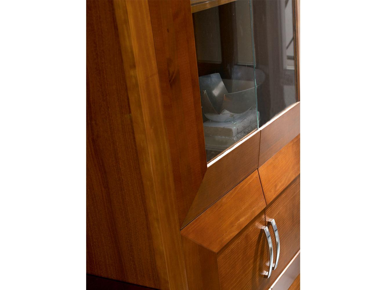 Mueble de sal n comedor con vitrina y librero 16548 for Factory del mueble cordoba