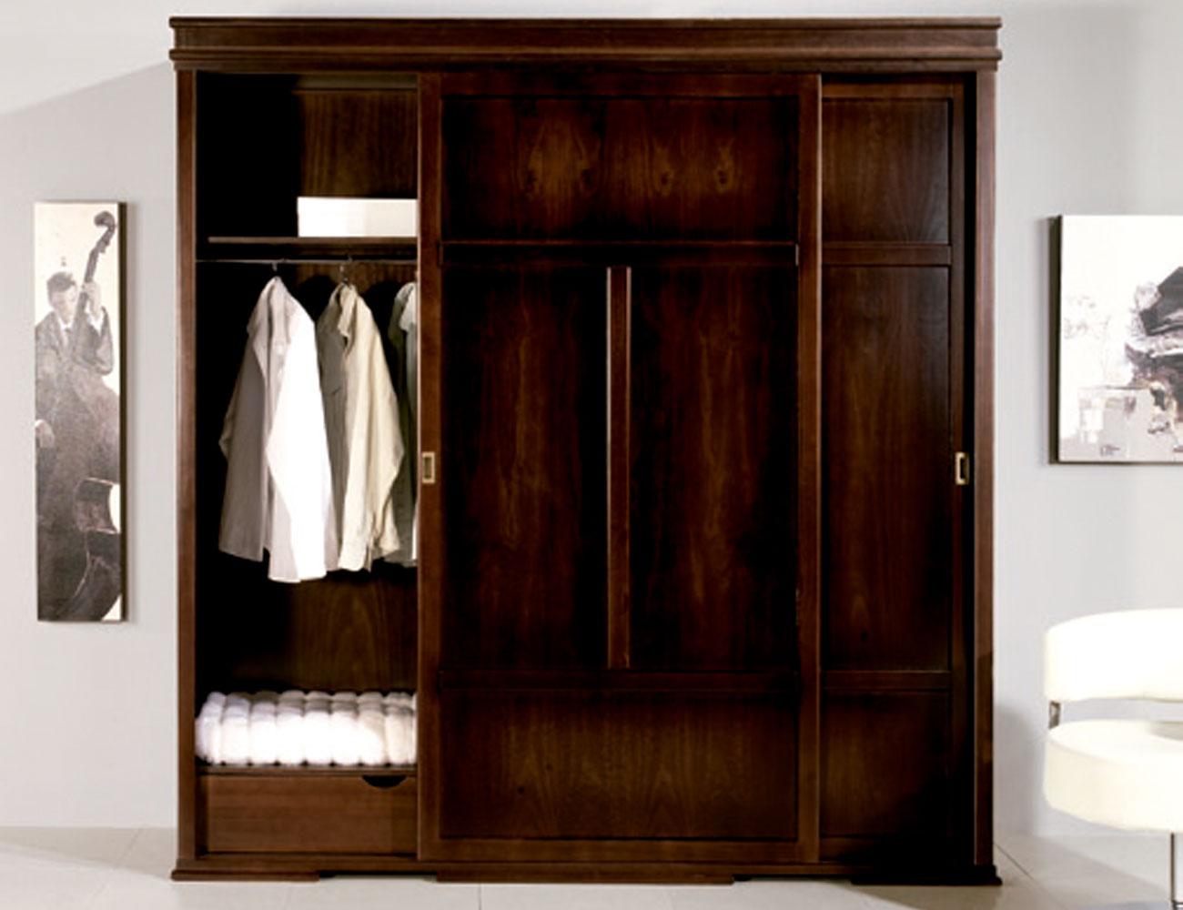 Armario 2 puertas correderas en madera de pino factory - Factory del mueble sevilla ...