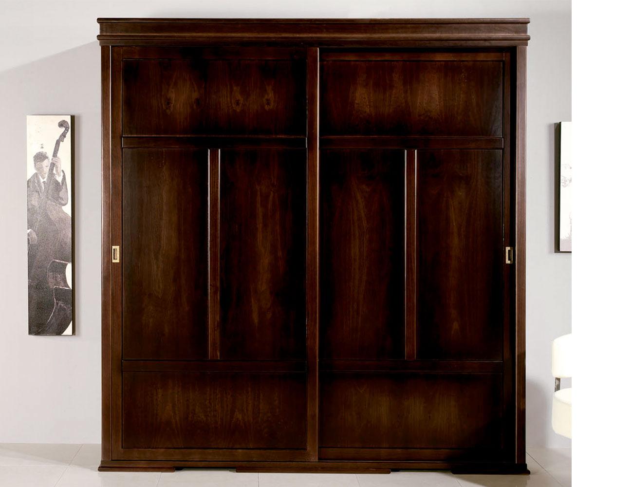 Armario 4 puertas abatibles sevilla en madera de pino for Puertas correderas sevilla