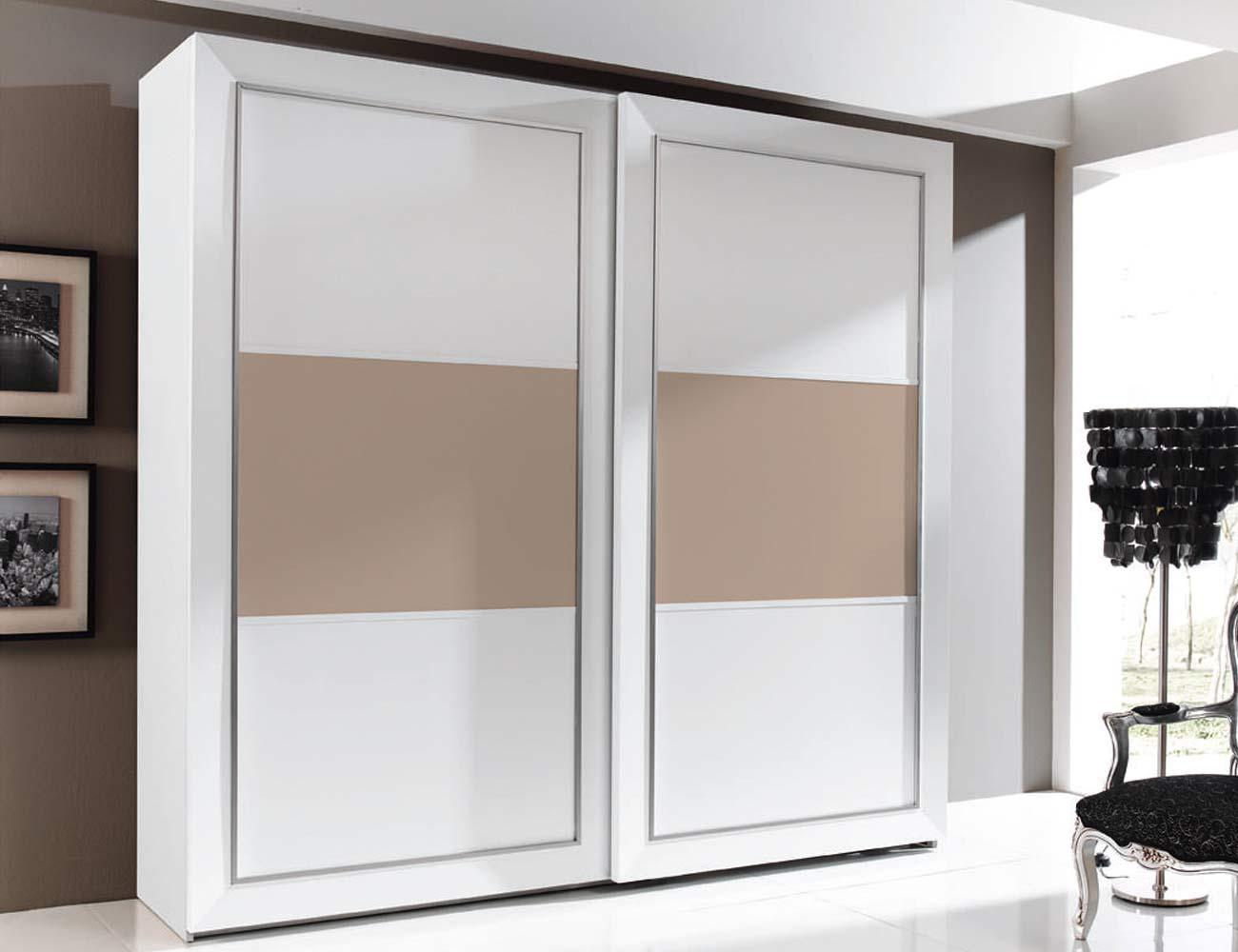 Armario 2p correderas 240x230x63 blanco plafon central vison4