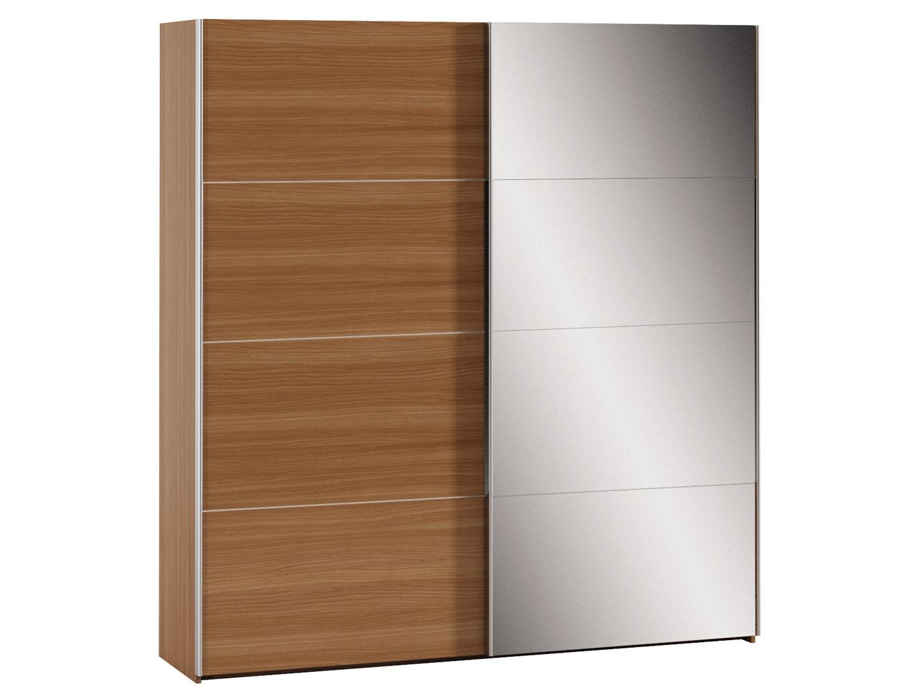 Dk 60 armario 2p correderas nogal espejo