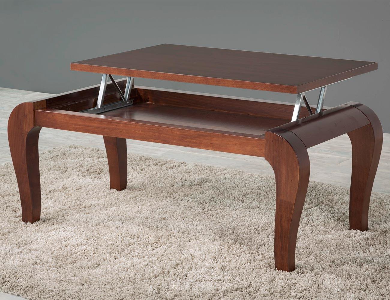 H 63 mesa centro pata isabelina tapa elevable madera1