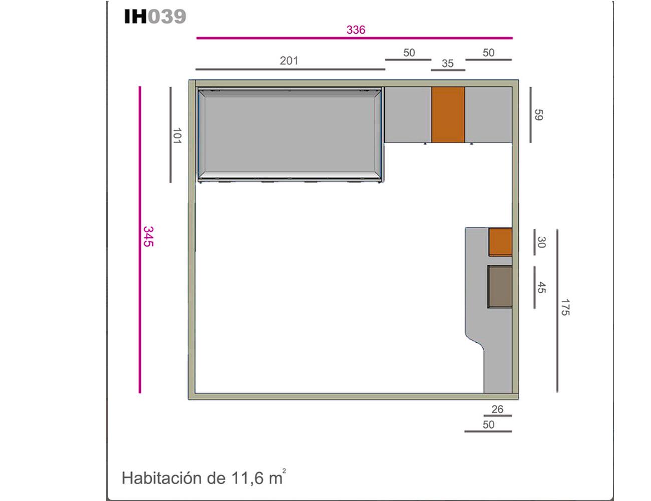 Ih039 medidas