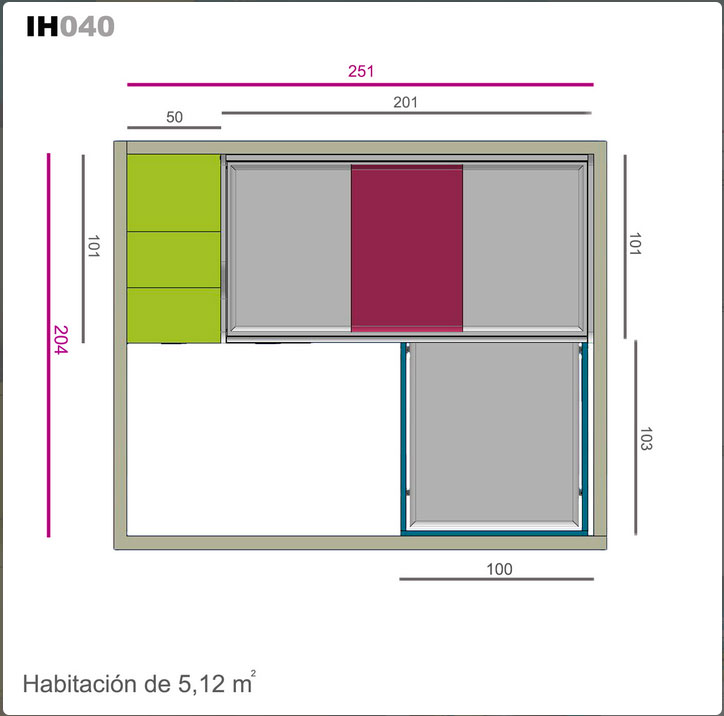 Ih040 medidas