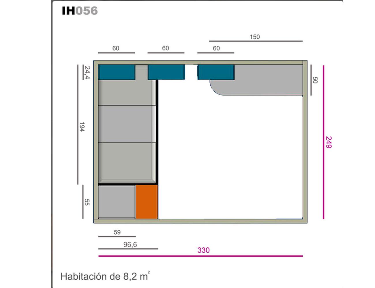 Ih056 medidas