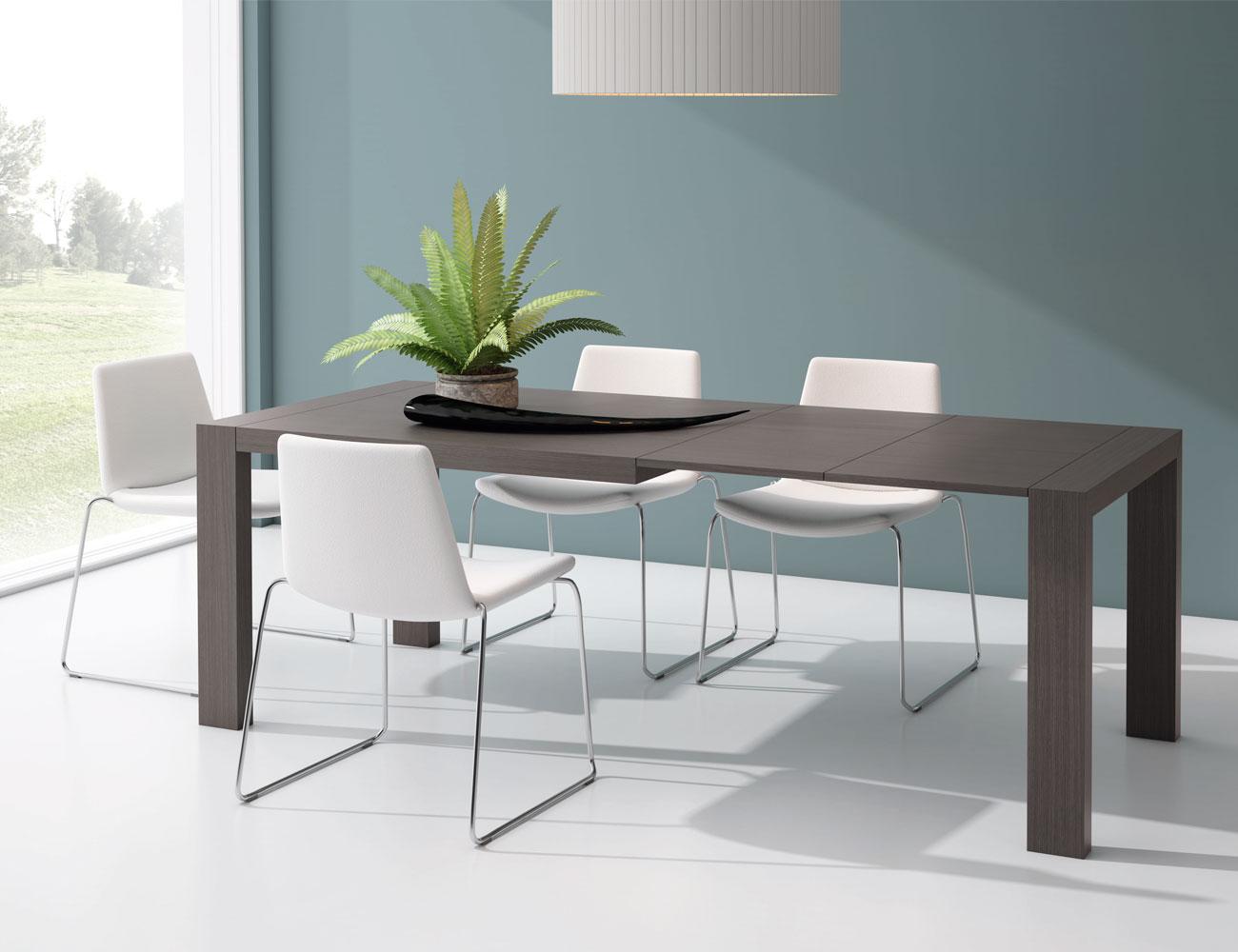 M223 mesa comedor rectangular extensible abierta ceniza2