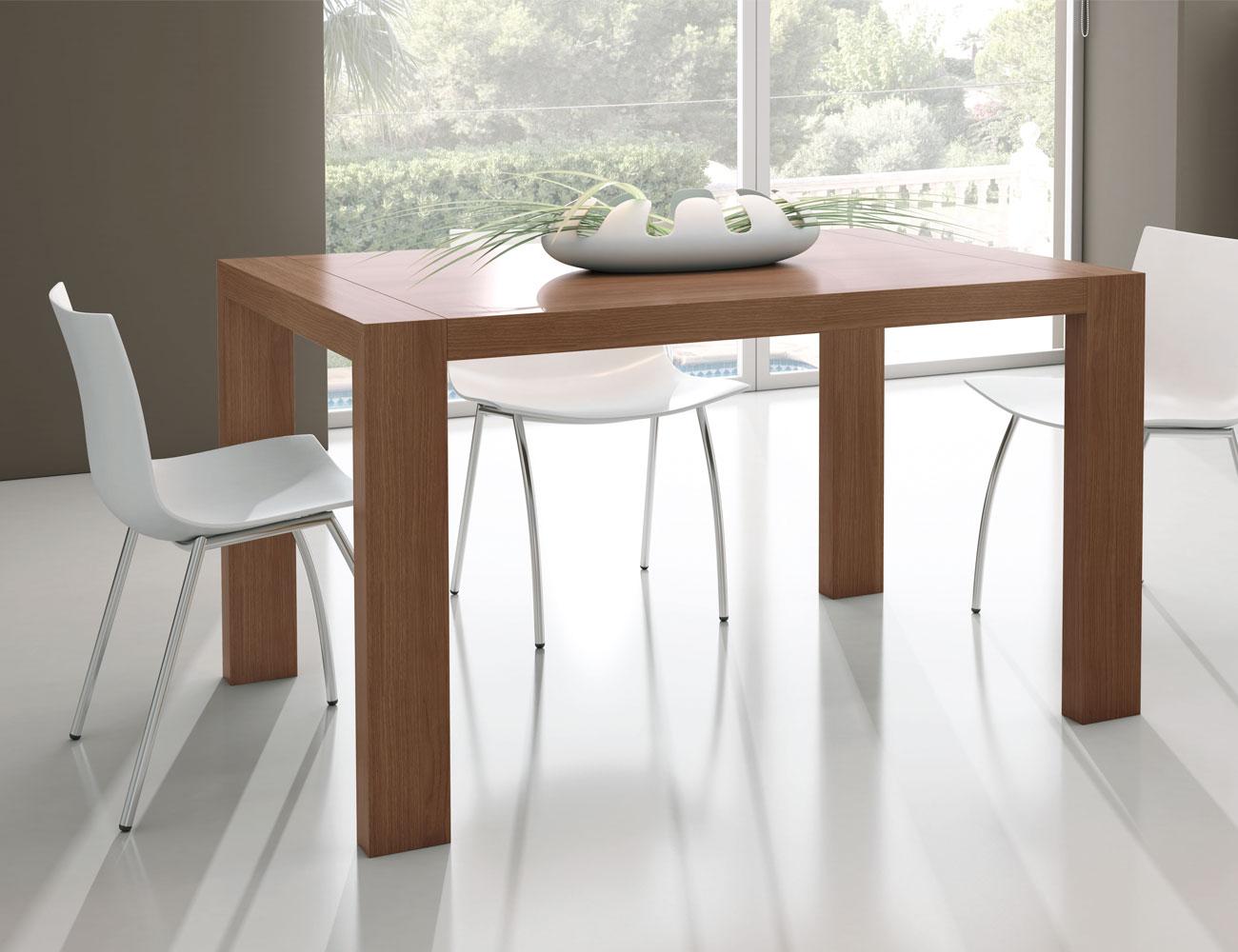 M223 mesa comedor rectangular extensible nogal