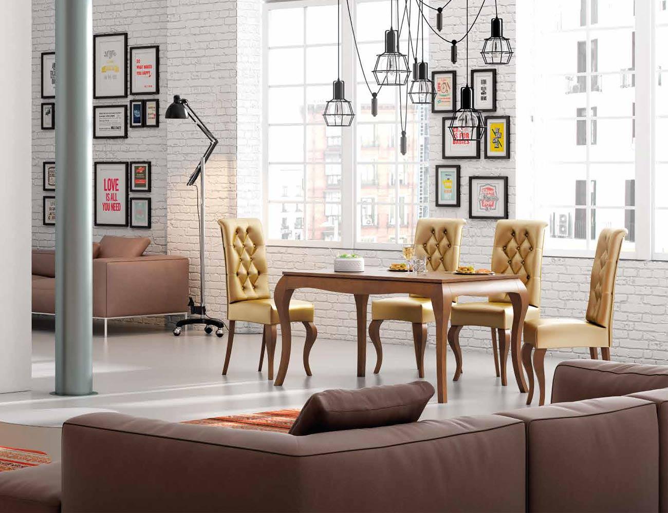Mesa sillas composicion 02