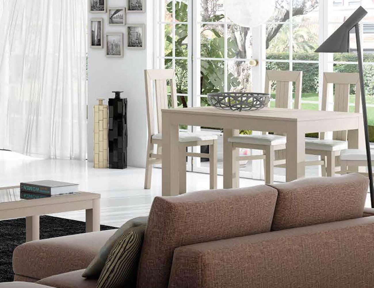 Mesa sillas composicion 03