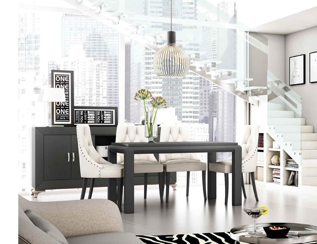 Mesa sillas composicion 06