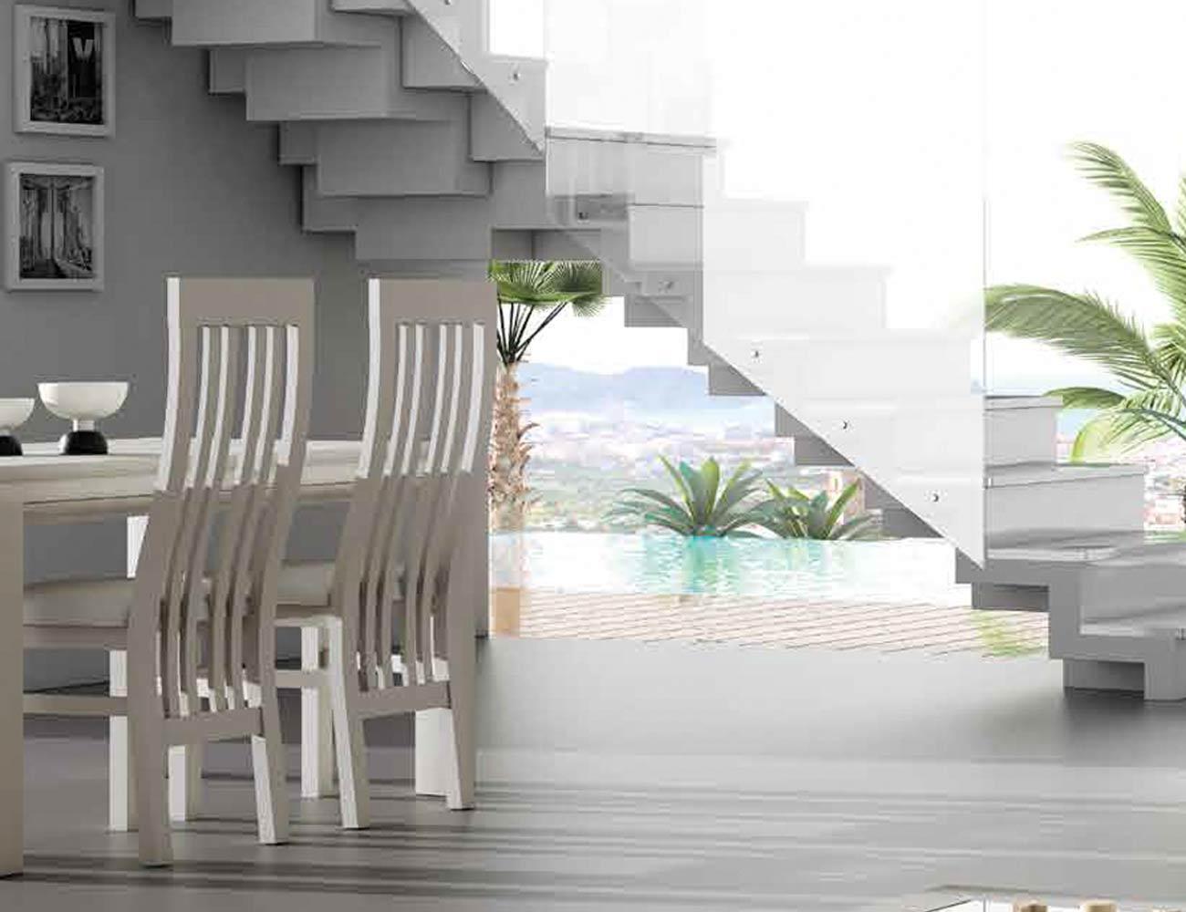 Mesa sillas composicion 08