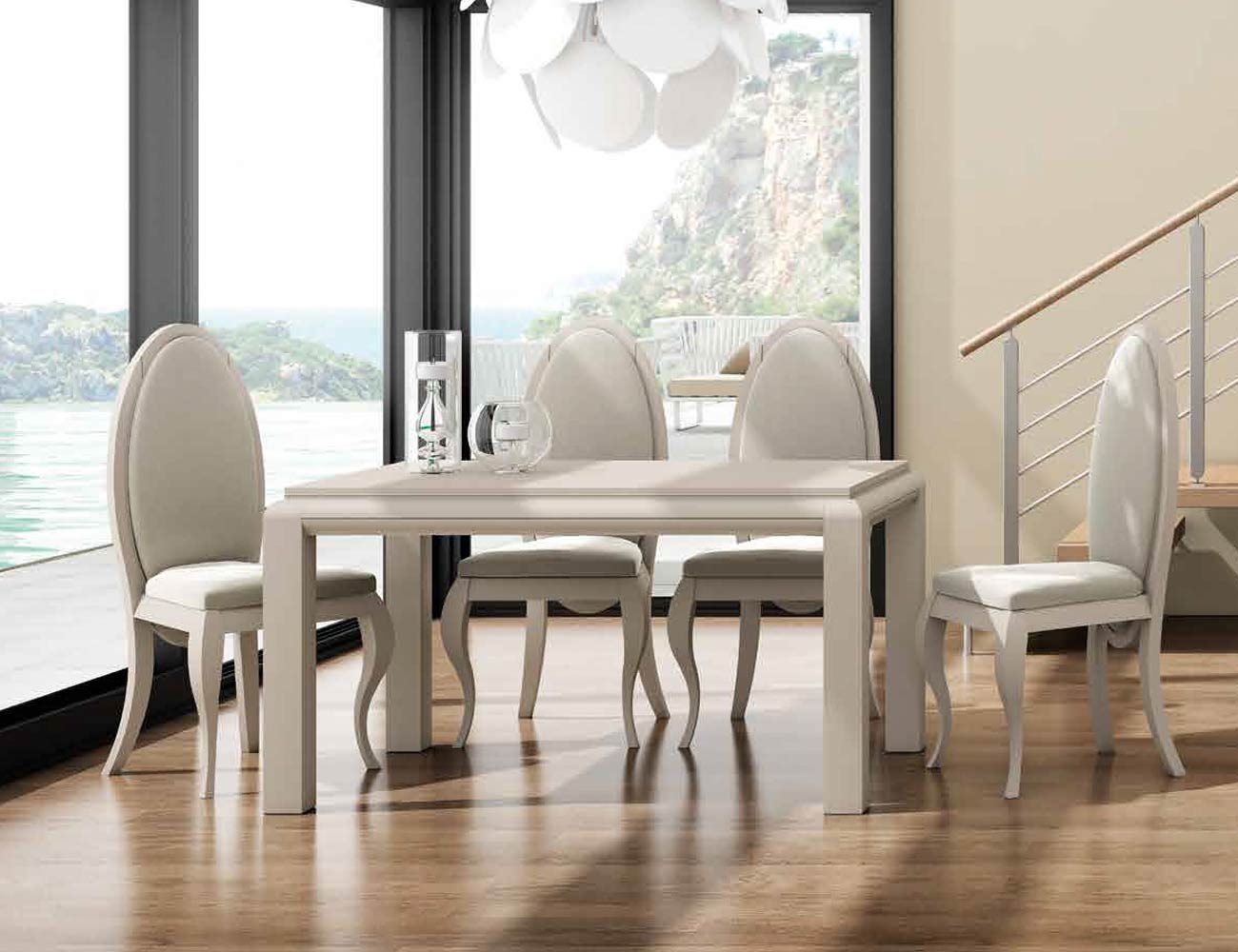 Mesa sillas composicion 09