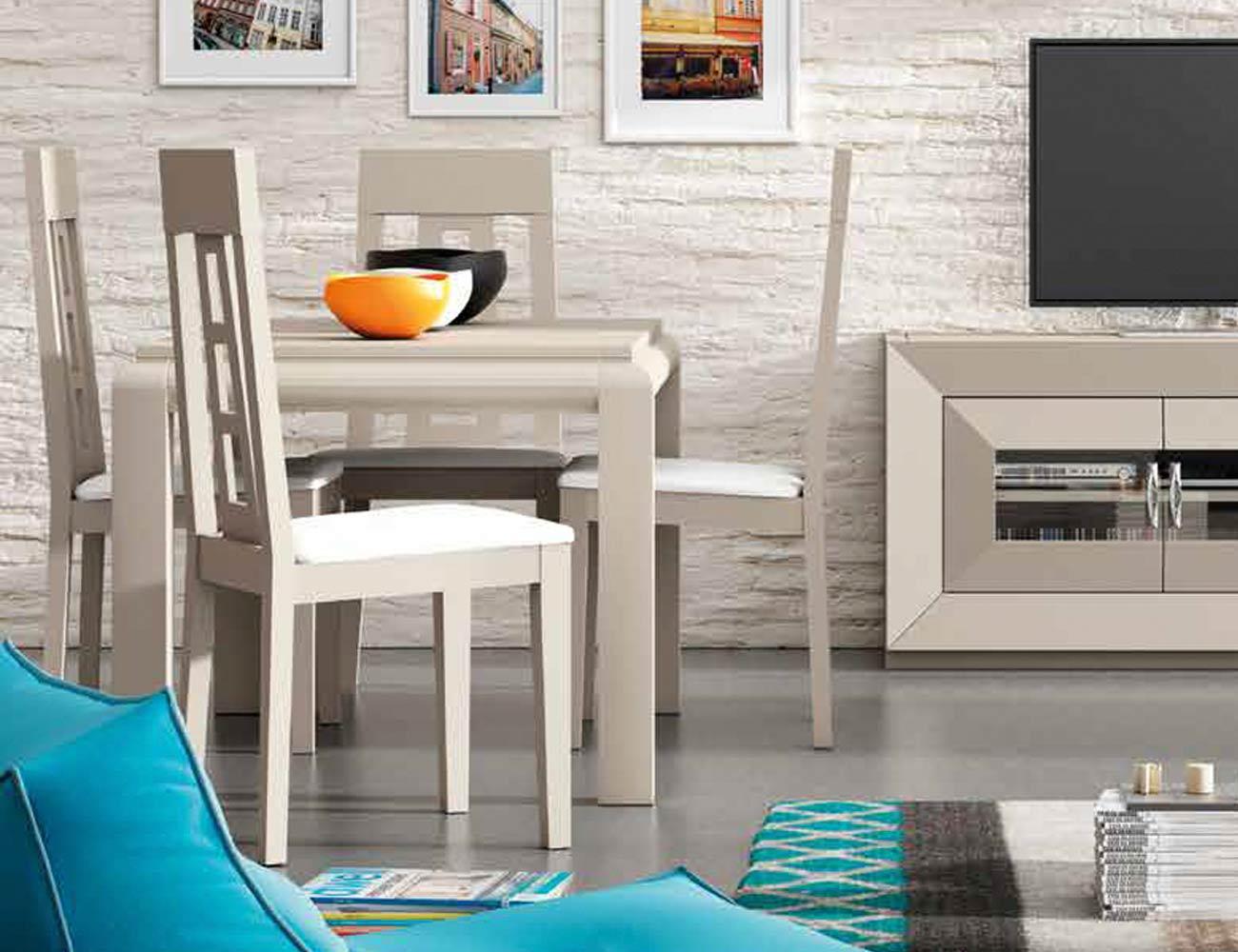 Mesa sillas composicion 12