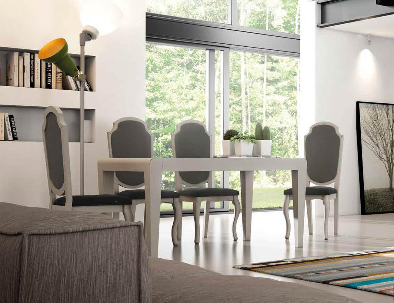 Mesa sillas composicion 13