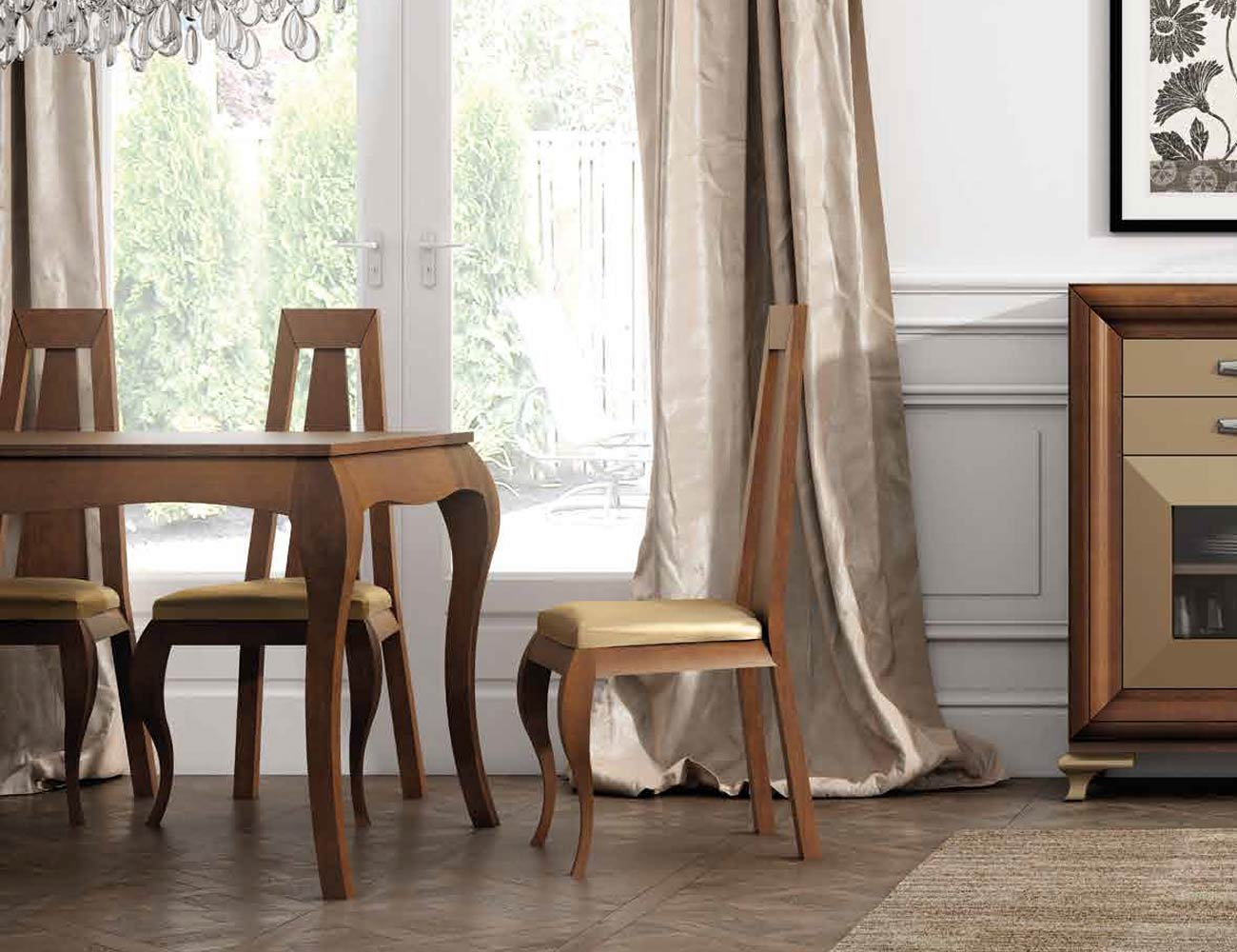 Mesa sillas composicion 19
