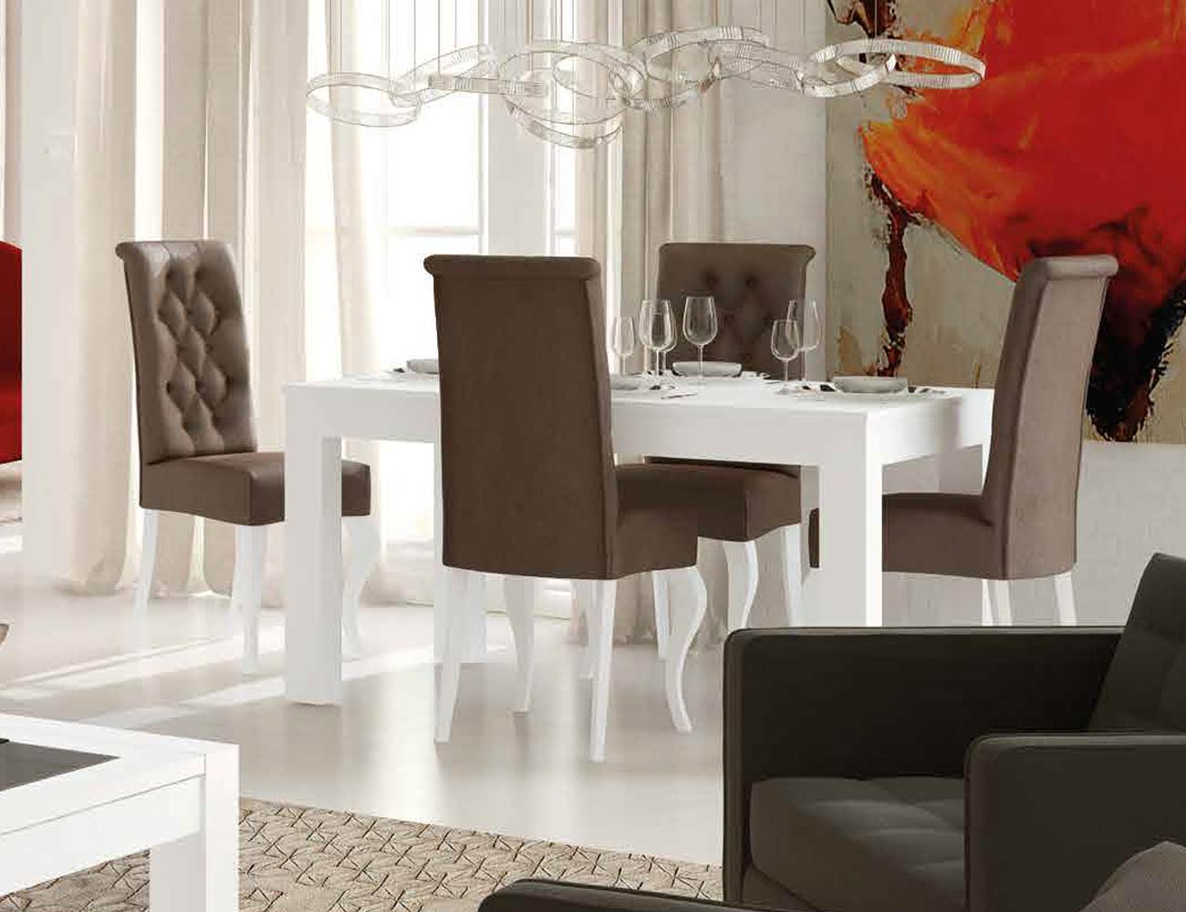 Mesa sillas composicion 40