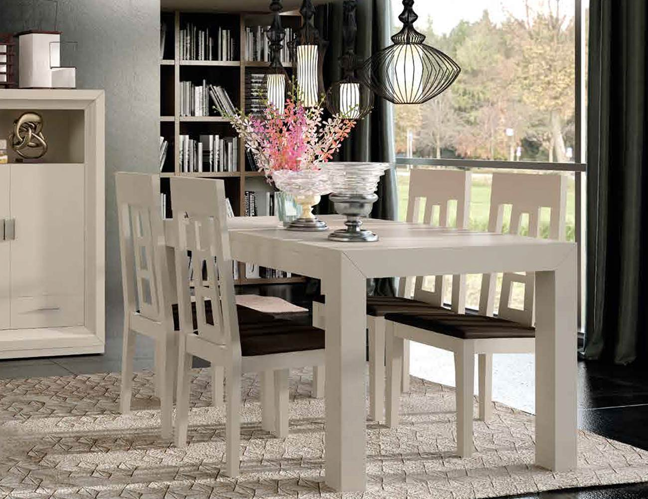 Mesa sillas composicion 42