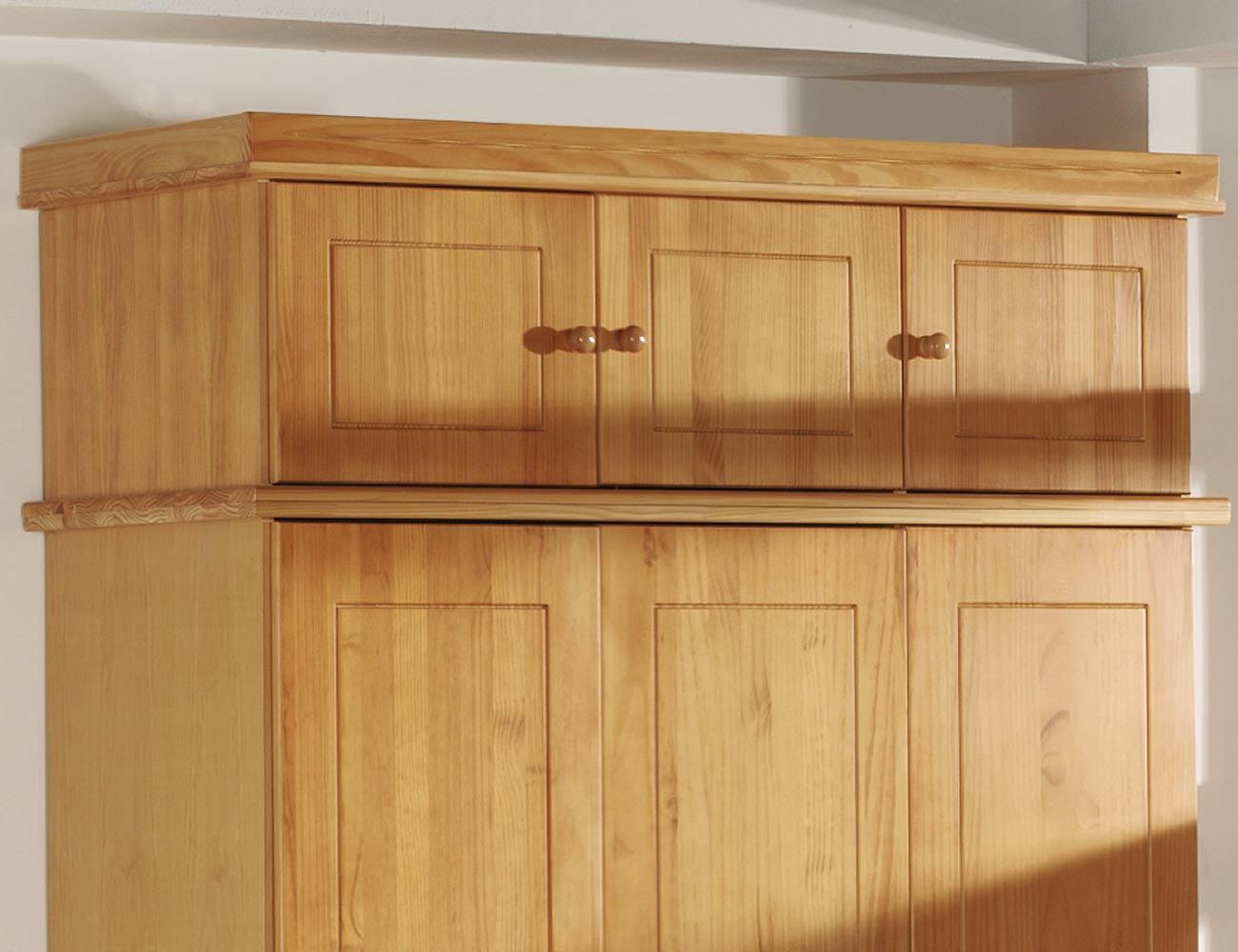 Armario 3 puertas en madera y en color miel (8077) | Factory del ...
