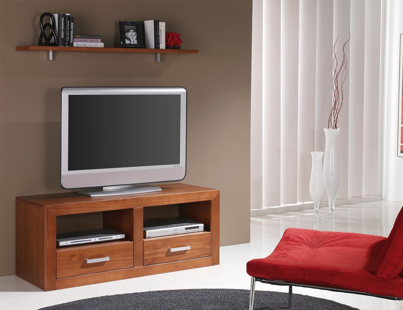 Ambiente21 mueble salon comedor tv  estante nogal1