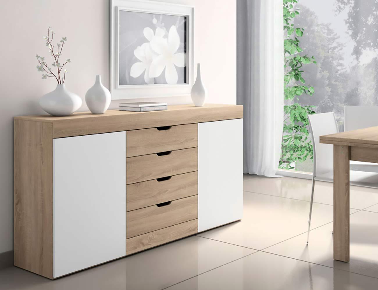 Aparador de salon de estilo moderno color cambrian con - Factory del mueble sevilla ...
