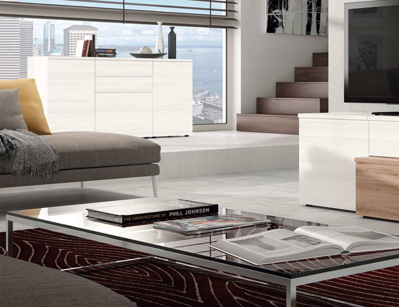 Mueble aparador color polar factory del mueble utrera - Muebles utrera ...
