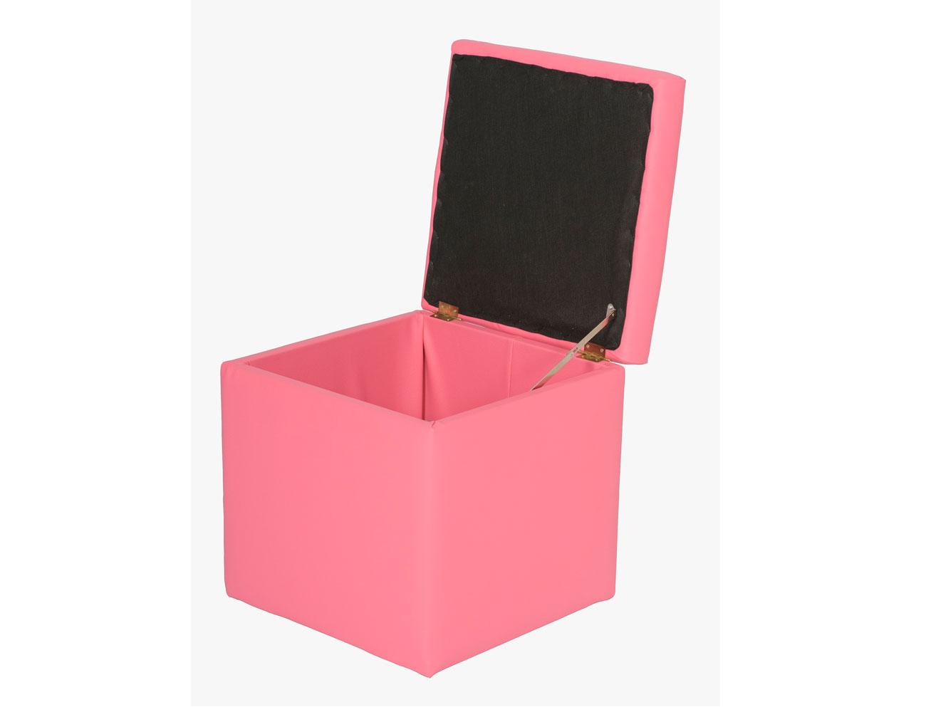 Arcon tapizado puff 40 rosa abierto