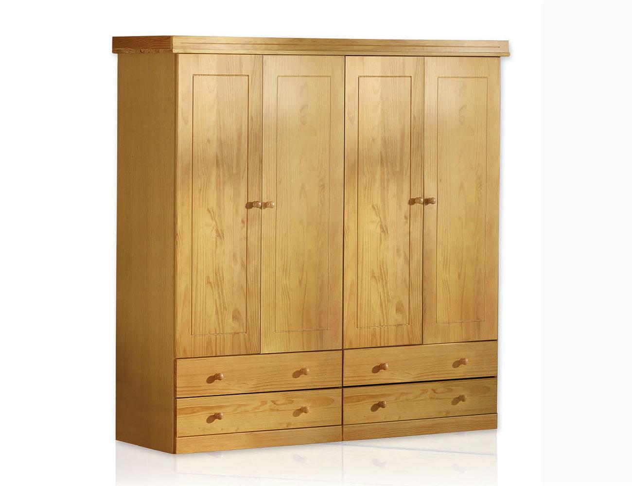 cama litera dormitorio juvenil en madera color miel con