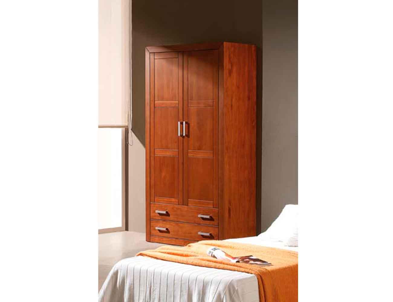 Armario puertas abatibles 2 puertas 2 cajones