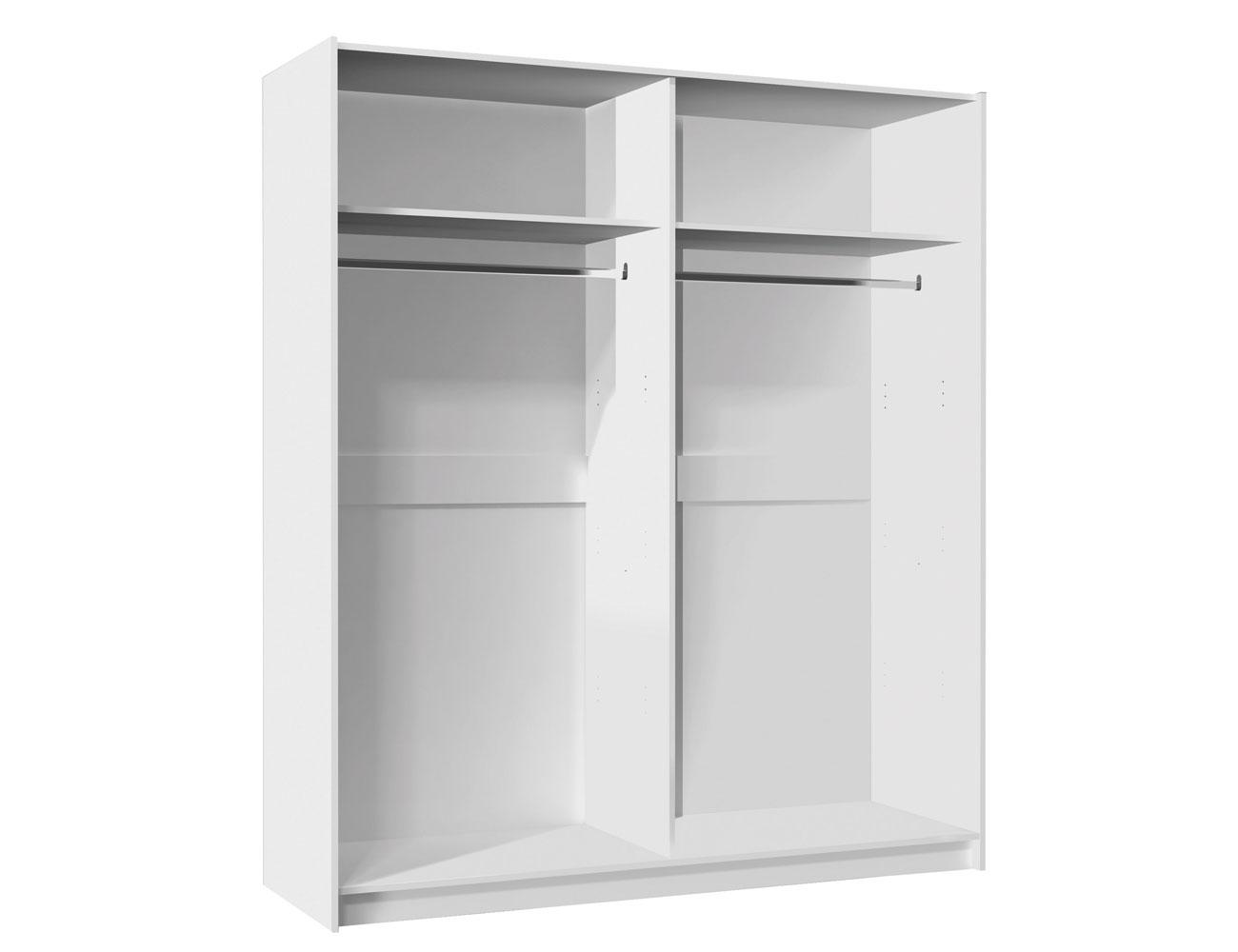 Armario puertas correderas blanco 150 cm de ancho factory del mueble utrera - Armario blanco puertas correderas ...